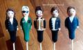 One Direction cake pops for the Late Late Show with James Corden £10 each (in this style)